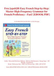 Easy French Step-by-Step Grammar