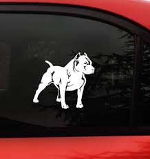 Amazon Com Pitbull Decal Sticker Each Dog Size 5 5 X 5 Inches Right I Love My Pit Bull Car Truck Window Wall Laptop Arts Crafts Sewing