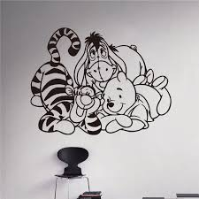 Winnie Pooh Piglet Tigger Wall Decal Kids Art Design Removable Waterproof Removable Wall Stickers Home Decoration Stickers Home Decor Wall Stickers Home Decorhome Decor Aliexpress