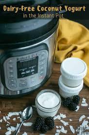 dairy free yogurt in the instant pot