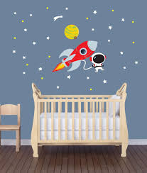 Amazon Com Mini Rocket Wall Decal With Astronaut For Baby Nursery Or Boy S Room Baby