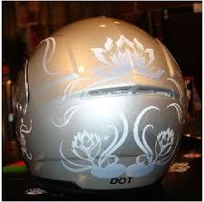 Custom Water Lily Lotus Motorcycle Helmet Vinyl Decal Graphics Jpg Harley Helmets Motorcycle Helmet Decals Motorcycle Helmet Design