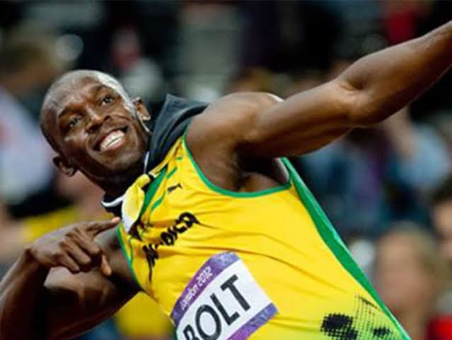 Image result for usain bolt and a table tennis player""