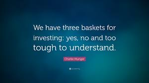 charlie munger e we have three