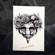 Beauty Henna Wooden Plover Head Temporary Tattoo Woodpecker Designs Fake Tattoo Paste 21x15cm Wall Sticker Car Decor Home Decals Tattoo Paste Temporary Tattoodesigner Temporary Tattoos Aliexpress