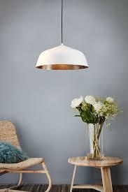 light shallow dome pendant white
