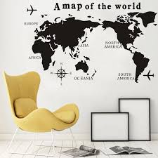 Big Szie A Map Of The World Wall Decal Nautical Home Decor Living Room Vinyl Wall Stickers Scratch Map Plain Compass Poster Mp02 Wall Stickers Aliexpress