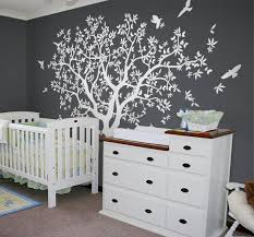 Large Tree Wall Decal White Tree Wall Decal Wall Mural Etsy