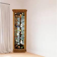 braud corner curio cabinet