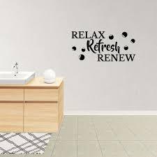 Wall Decal Quote Relax Refresh Renew Lettering Bath Vinyl Lettering Words Decor Jp995 Walmart Com Walmart Com