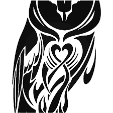 Tribal Owl Bird 14 Vinyl Decal Sticker