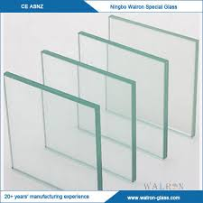 4 19mm clear toughened glass tempered