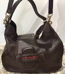 gucci dark brown leather bag michele s