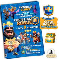 Clash Royale Invitation Clash Royale Birthday Clash Royale