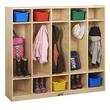 Amazon Com Ecr4kids Birch 5 Section School Coat Locker For Toddlers And Kids Backpack And Cubby Storage Organizer With Hooks Hardwood Locker For Daycares Classrooms Mudrooms And Homes Natural Elr 0425 Industrial Scientific