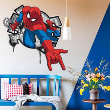 City Hero Spiderman Break Wall Kids Boys Rooms Decal Wall Sticker Home Decor Chidlren Toy Gifts Nursery Movie Spider Man Poster Buy At The Price Of 1 87 In Aliexpress Com Imall Com