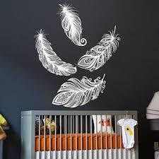 Wall Decal Vinyl Sticker Decals Art Home Decor Design Mural Bird Feather Feathers Children Gift Bedroom Dorm Nursery Childr Vinyl Wall Decals Wall Decals Mural
