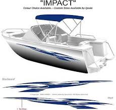Boat Graphics Decal Sticker Kit Impact 1800 Marine Cast Vinyl Ebay Boat Wraps Boat Decals Boat Stickers