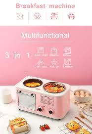 Điện 3 Trong 1 Bữa Sáng Cho Gia Đình Máy Mini Máy Nướng Bánh Mì Lò Nướng  Trứng Tráng Chảo Chiên Lẩu Nồi Hơi Máy Hấp Thực Phẩm EU