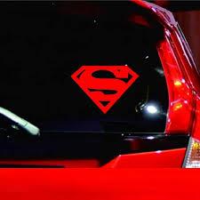 Cool Superman Logo Vinyl Car Sticker Cartoon Superhero Car Decal Car Stickers Aliexpress