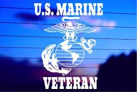 Us Marine Veteran Car Decal Sticker