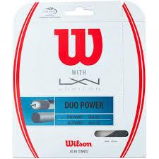 Cordage de Tennis Hybride Wilson Duo Power