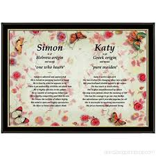 personalised framed first name meaning