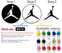 Jordan Car Decal Nike Basketball Shoes Sports Vinyl Wall Window Sticker Shorts For Sale Online Ebay