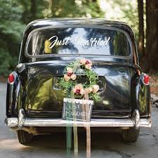 Just Married Car Vinyl Decal Sticker Londondecal