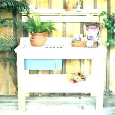 storage outdoor potting benches