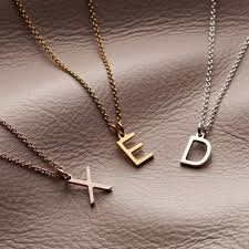 letter initial necklace posh totty