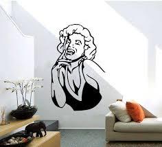 Marilyn Monroe Wall Sticker Art Bedroom Characters Wall Decals