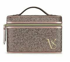 case makeup cosmetic bag pink glitter