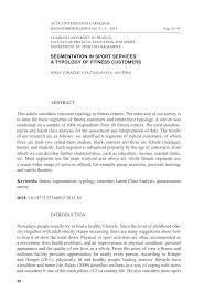 pdf segmentation in sport services a