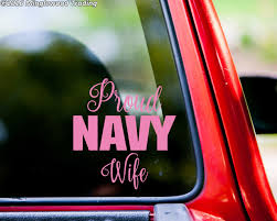 Proud Navy Wife 6 X 6 5 Vinyl Decal Sticker Usn United States Military Minglewood Trading