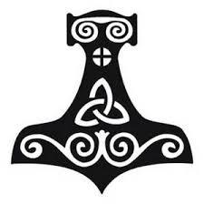 Thor S Hammer Mjolnir Viking Medieval Asatru Norse Black Vinyl Decal Sticker Ebay