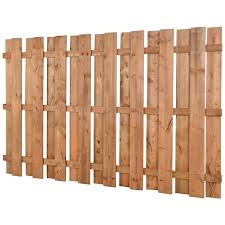 Square Brown Treated Wood Fence 5 Ft X 8 Ft Canac