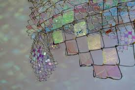 First Look New Sparkling Chain Link Fence Sculpture