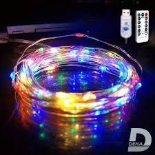 Dây đèn led đom đóm DEHA trang trí nguồn USB kèm điều khiển 8 chế độ nháy  nhiều màu - Đèn trang trí