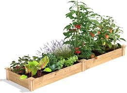 Amazon Com Greenes Fence Original Cedar Raised Garden Kit 2 Ft X 8 Ft X 7 In Garden Outdoor