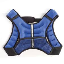 weighted vest 12 lbs blue strength