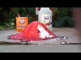 vinegar baking soda volcano you