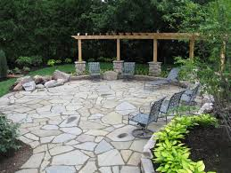 natural stone front patio ideas 10