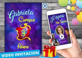 Video Invitacion De Cumpleanos Descendientes 3 S 22 00 En