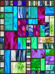 pretty abstract squares stained glass