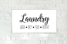 Laundry Room Vinyl Decal Laundry Wall Art Home Decor For Sale Online