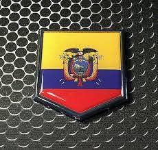 Ecuador Flag Emblem Chrome Car Decal Bumper Sticker Rainbowlands Lk