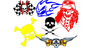 Custom Skull Decals And Skull Stickers Any Size Color
