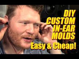 diy custom in ear headphone molds