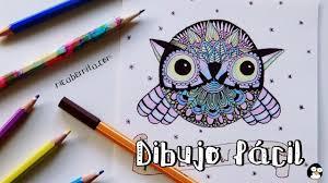 Como Dibujar Un Buho Zentangle Con Animales Dibujo Facil Youtube